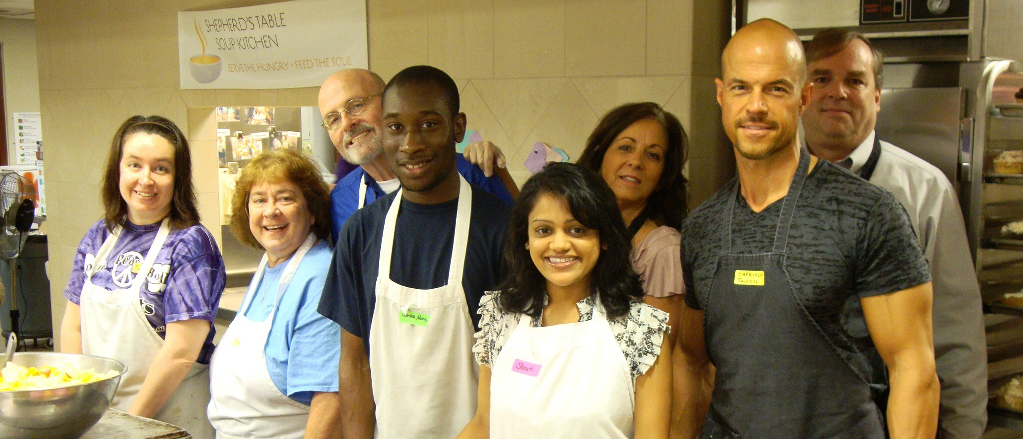 RFOWC Volunteering at Shepherd's Table Soup Kitchen in Raleigh - Serving Meals to Those in the Greatest of Need