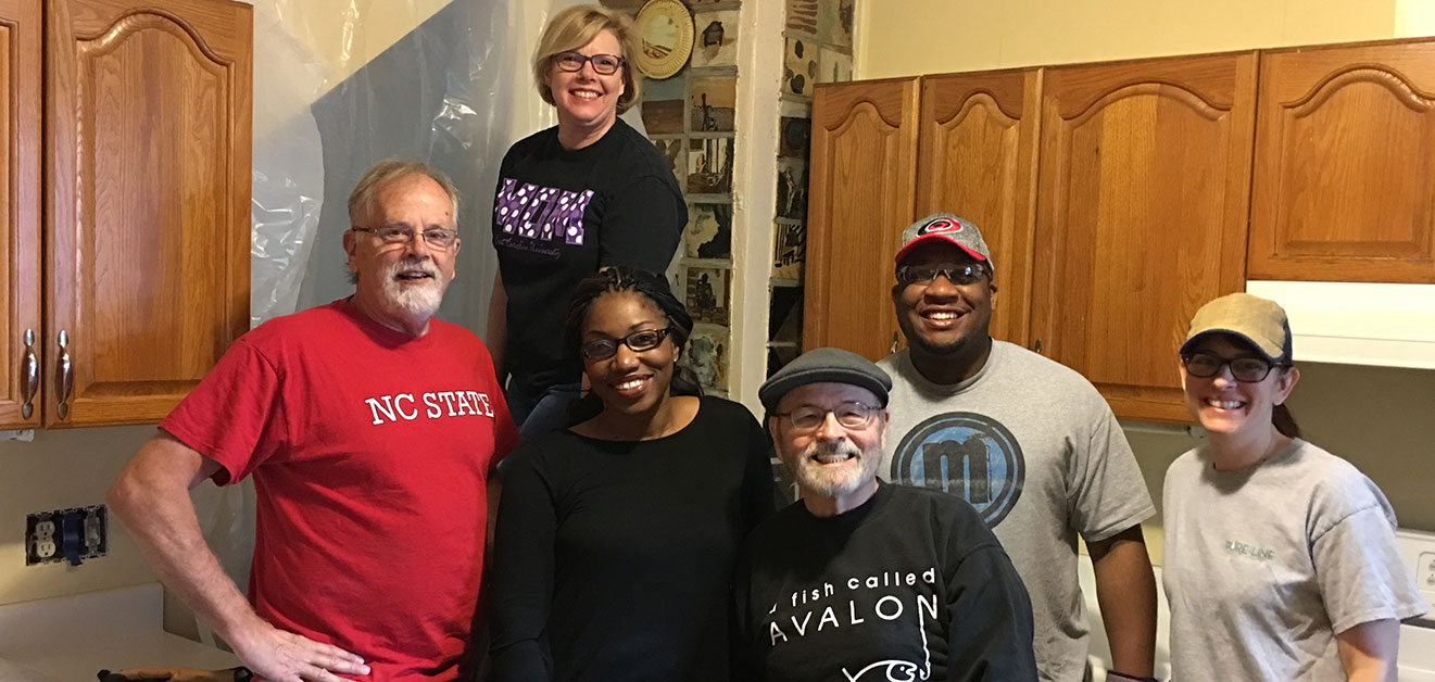 RFOWC Service Committee Members Renovate Kitchen at the Wrenn House